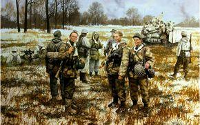 ������: ���, �������, �������, �����, German infantry in 1944.
