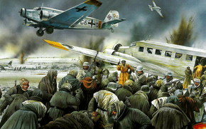 ������: ���, �������, �������, �������, �����������, ����������, Junkers Ju-52 evacuating wounded from Stalingrad