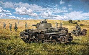 Оружие: арт, война, Танк, пехота, вермахт, наступление, А Skoda LT vz.35 (Pz.Kpfw 35(t))