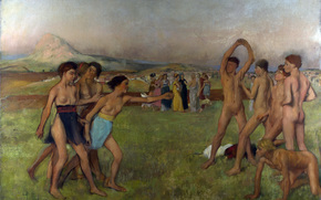 ������: ���, �������, ��������, �������, ��������, Hilaire-Germain-Edgar Degas, Young spartans exercising