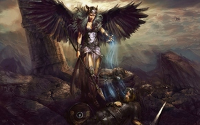 Фантастика: pablo fernandez, valkyrie, death, battle, soul, art