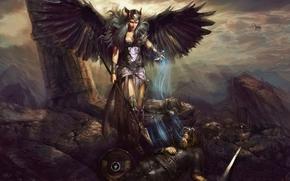 ����������: pablo fernandez, valkyrie, death, battle, soul, art