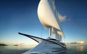 Корабли: yacht, Phoenicia, яхта, Финикия