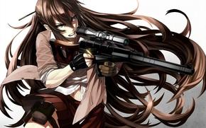 Аниме: Аниме, Девушка, Снайпер