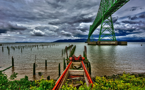 �������: Astoria Bridge, Columbia River, Oregon