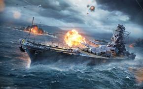 Оружие: world of warships, мир кораблей, морской бой, корабль, море