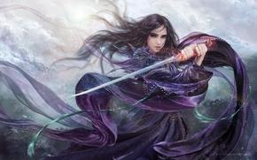 Фантастика: Девушка, Лезвие, Пурпурная роза
