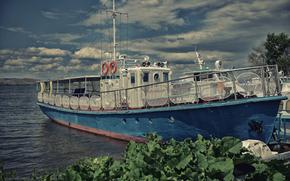 Корабли: корабли, катер, причал