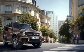 Машины: city, 2016, Mercedes-AMG, G63, design mystic brown bright