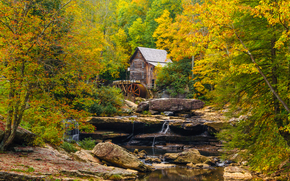 �������: �����, ��������, �������, �����, ���, �������, Glade Creek Grist Mill, Babcock State Park, �������, ������