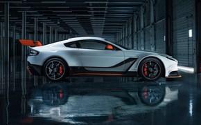Машины: гараж, 2015, Aston Martin, вид сбоку, Vantage GT3