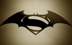 Фильмы: Batman v Superman, Dawn of Justice, логотип, фантастика, фэнтези