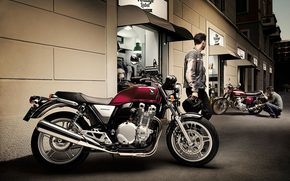 Мотоциклы: bike, Honda, профиль, CB1100A, Deluxue, ABS