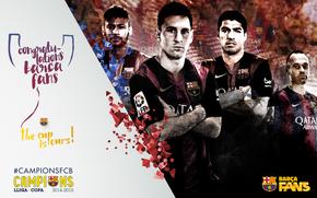 Спорт: футбол, FC Barcelona, 2015, Copa del Rey, Champions, команда