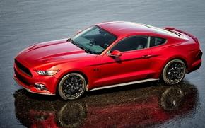 Машины: красный, 2016, Ford Mustang, купе, GT, Coupe, black package