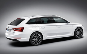 Машины: студия, 2016, Skoda Superb, белый, Combi, vehicle