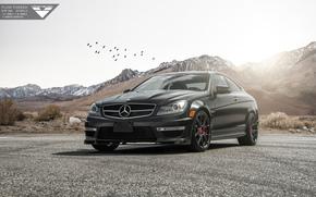 Машины: горы, 2015, ателье, Vorsteiner, тюнинг, Mercedes-Benz, C63, AMG