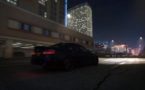 Машины: Ночь, bmw, бмв, авто, город