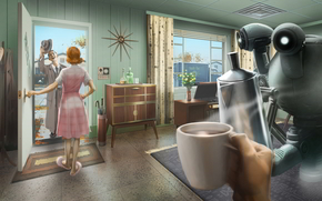 ����: Fallout_4, disaster, bombs, nuclear, sixties, house