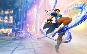 Игры: Street_fighter_5, fighting, painting, girl, action, uniform, discipline