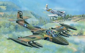 Авиация: арт, Самолеты, США, A-37A Dragonfly