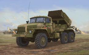 Оружие: арт, Боевая техника, BM-21 Grad MLRS 9K51, Россия