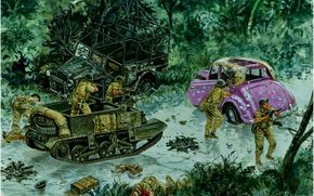 Оружие: арт, Война, Солдаты, Hong-Kong 1941, Counter-Attack at the Wongneichong Gap, Giuseppe Rava