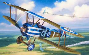 Авиация: арт, Самолет, небо, Sopwith Camel