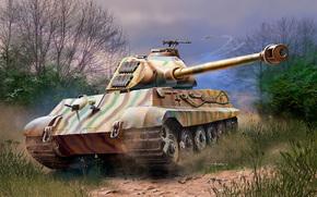 Оружие: арт, Танк, Фашистский, Tiger-II