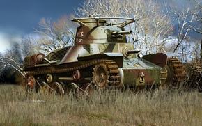 Оружие: арт, Танк, Японский, Tip 4 ke-nu, лёгкий танк