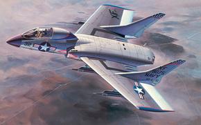 Авиация: арт, Самолет, США, Vought F7U Cutlass