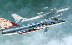 Авиация: арт, Самолет, США, Истребитель, US F-106A Delta Dart