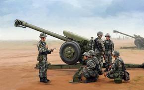 Оружие: арт, Пушка, Солдаты, Chinese D-30, Китайская Д-30