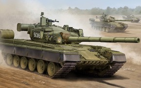 Оружие: арт, Танк, Россия, Russian T-80B MBT