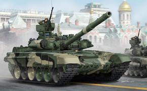 Оружие: арт, Танк, Парад победы, Russian T-90A