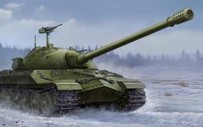 Оружие: арт, Танк, Зима, СССР, Soviet IS-7