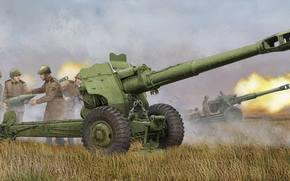 Оружие: арт, Пушка, Расчет, Солдаты, Стрельба