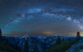 ������: Milky Way, Glacier Point, Yosemite National Park, California, ������������ ���� ��������, ��������, ����������, ������� ����, ������� ����, �����, ����