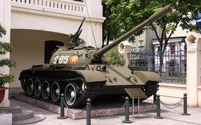 Оружие: т-54б, советский, средний, танк, бронетехника, оружие, ссср, вьетнам