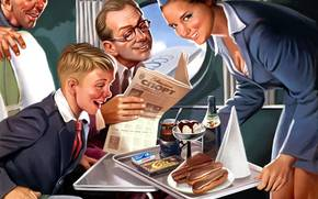 Обои Разное: еда, чай, стакн, мороженое, буратино, шоколад, самолёт, девушка, улыбка, аэрофлот, ссср, газета, спорт