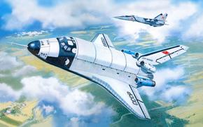 Разное: буран, советский, космический, корабль, челнок, СССР, самолёт, миг