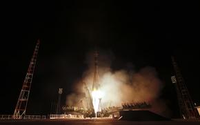 Космос: Ракета, старт, СССР, Россия, Стартовая, Площадка, Космодром, Байконур, Казахстан