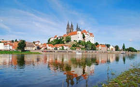 �����: Meissen, Saxony, Germany, Elbe River, Albrechtsburg castle, Meissen Cathedral, ������, ��������, ��������, ���� �����, ����� �������������, ���������� �����, �����, ��������, ����, ����, ���������