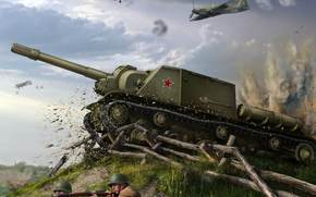 Игры: Бой, САУ, ИСУ-152, самолеты, World of Tanks Generals