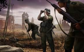 Игры: Немецкие солдаты, смотрит, Вермахт, World of Tanks Generals