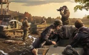 Игры: Солдаты, Танкетки, Ремонтируют, World of Tanks Generals