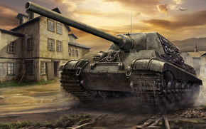 Игры: арт, САУ, Jagdtiger, World of Tanks Generals