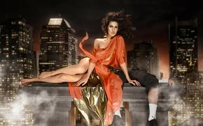 Ситуации: Christine Hinton, платье, ножки, мужик, ноги, аут, город, ситуация