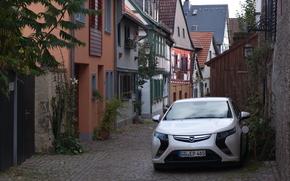 Машины: Электромобиль, Опель, Ампера, Opel, Ampera, зарядка, технологии, Германия, дома, улица
