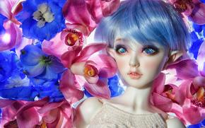 Разное: игрушка, кукла, эльф, цветы, орхидеи
